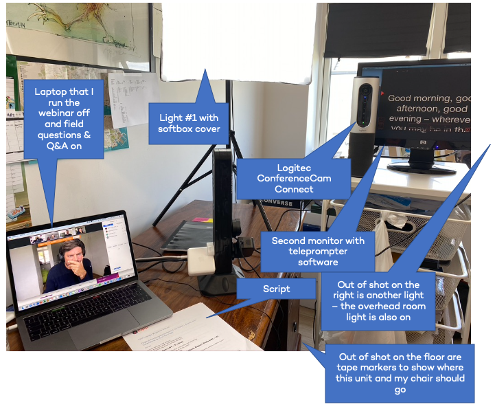 How to Professionally Host a Webinar or Virtual Event at Home